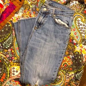 Old Navy Destructed Boyfriend Jeans